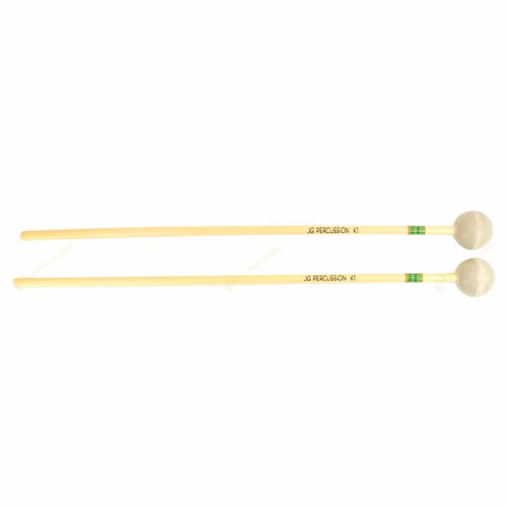 K1 Soft Rubber 軟橡膠棒頭 藤柄 高音木琴/鐘琴槌