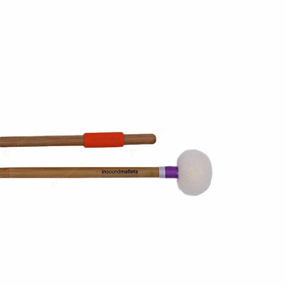 insoundmallets 紫/灰紗線 純手工定音鼓棒 PGY 毛氈紗線系列