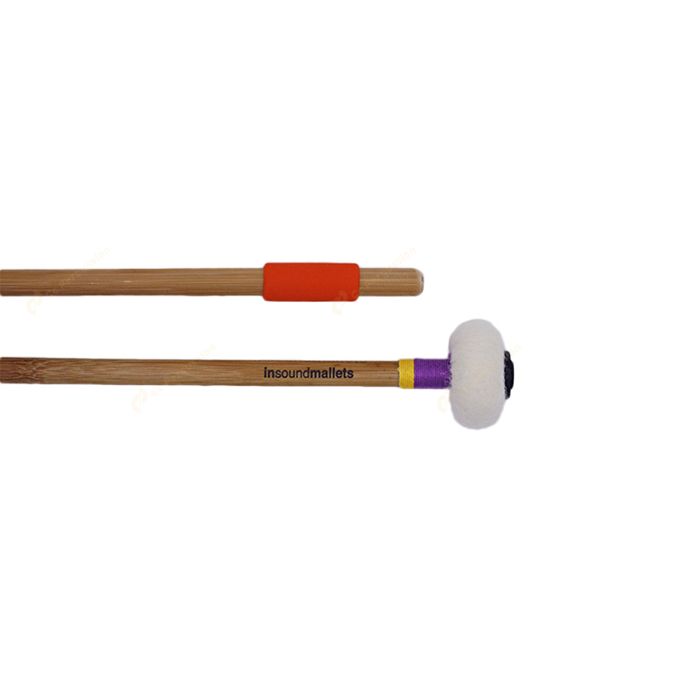 insoundmallets 紫/黃絨布 純手工定音鼓棒 PYF 絨布系列