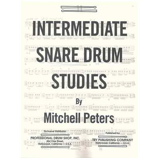 Peters-Intermediate Snare Drum Studies 彼得斯-中階小鼓練習教本
