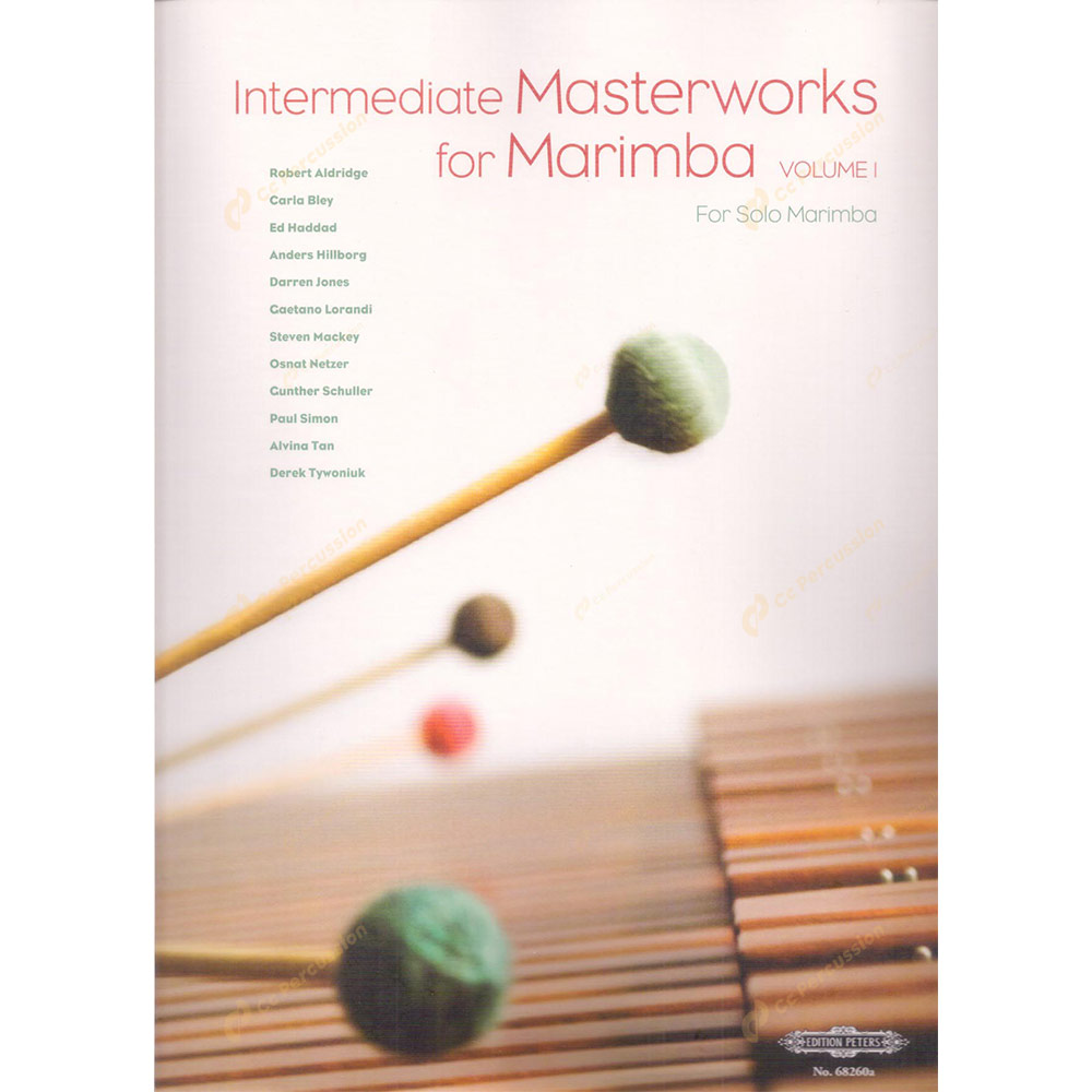 Zeltsman – Intermediate Masterworks for Marimba Volume I (For Solo Marimba) 澤爾茲曼-第一卷中階馬林巴木琴大師作品(給獨奏馬林巴)
