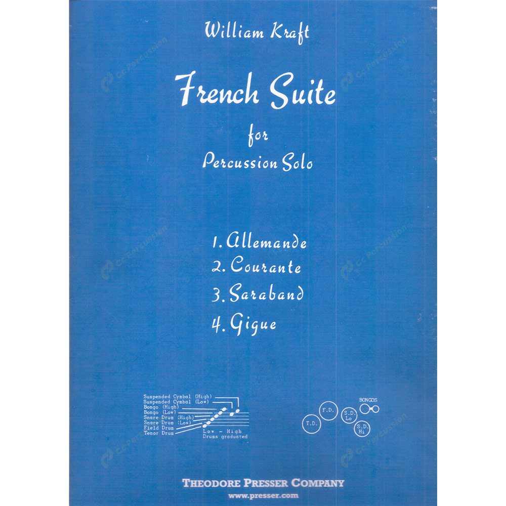 Kraft – French Suite for Percussion Solo 卡夫特 – 獨奏打擊樂的法國組曲